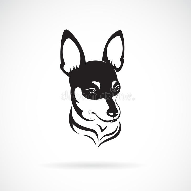 Vector del perro de la chihuahua aislado en el fondo blanco pet Animales Perros logotipo o icono Ejemplo acodado editable f?cil d ilustración del vector