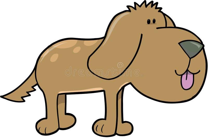 Vector del perro de perrito stock de ilustración
