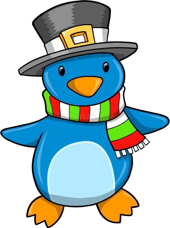 Vector del pingüino del día de fiesta de la Navidad stock de ilustración
