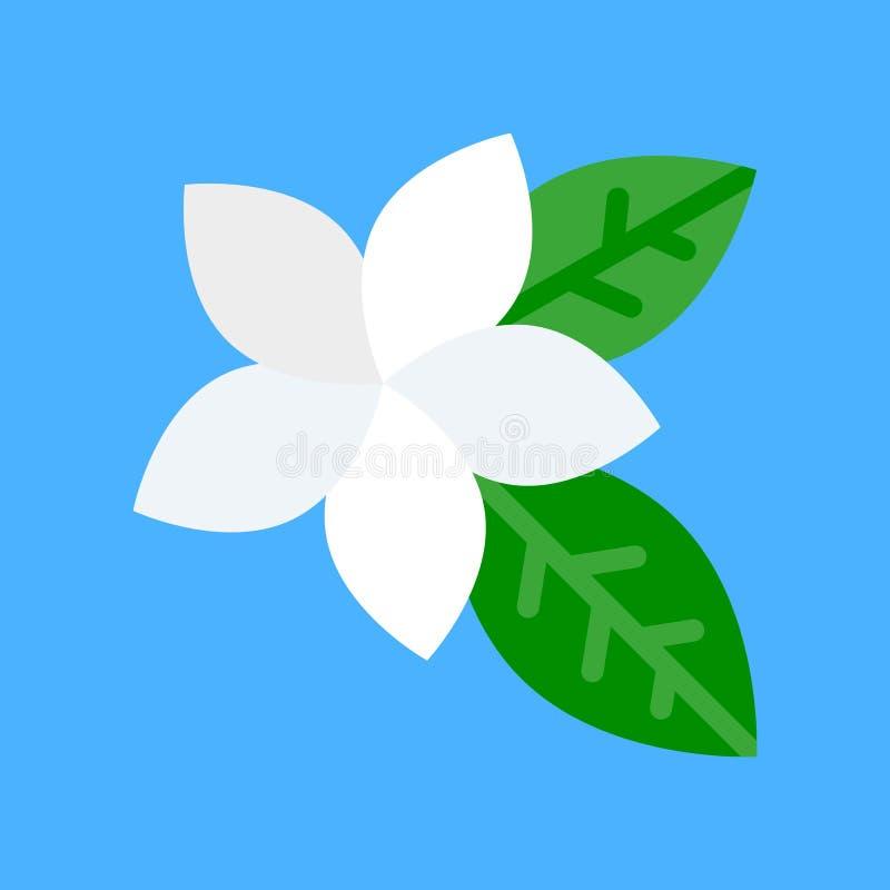 Vector del Plumeria, icono plano relacionado tropical del estilo ilustración del vector