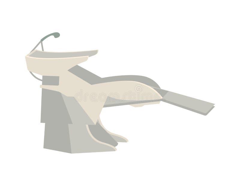 Vector del procedimiento de los peluqueros del pelo del lavabo que se lava libre illustration
