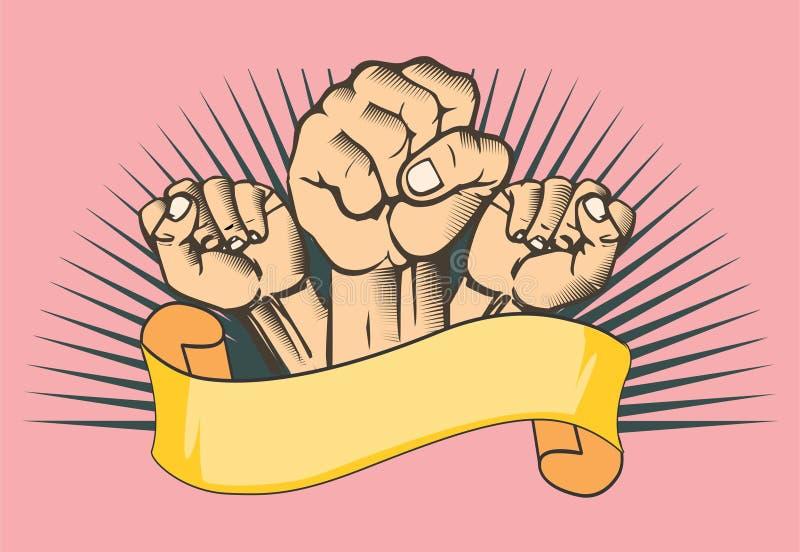 Vector del puño de las manos ilustración del vector