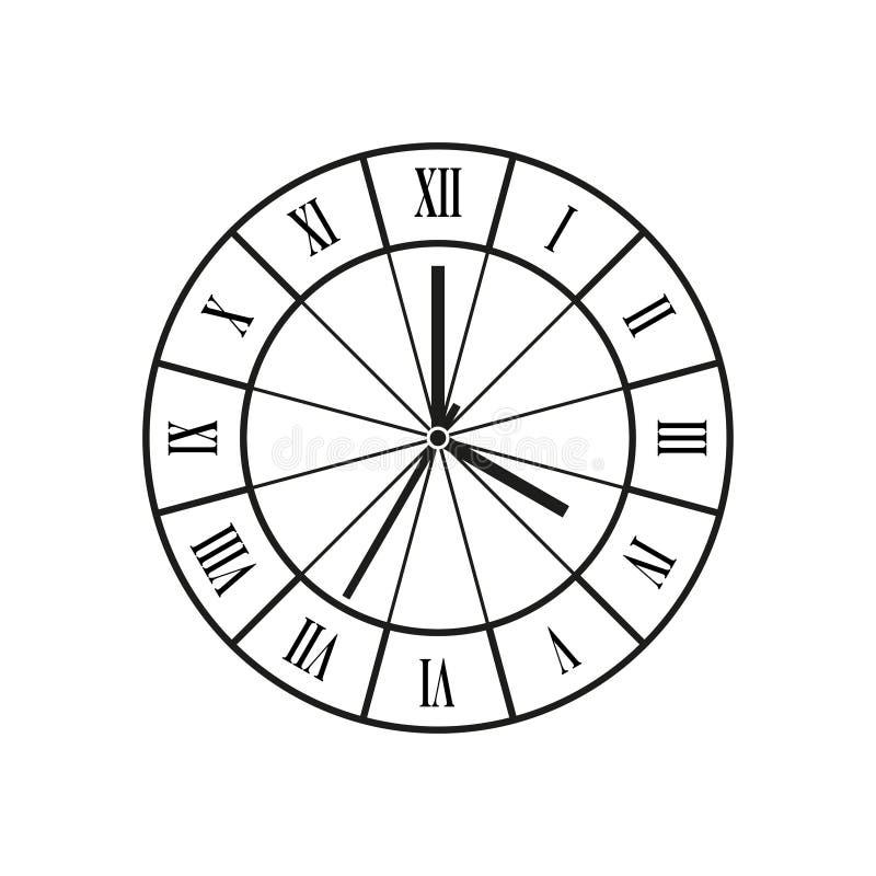 Vector del reloj fotos de archivo