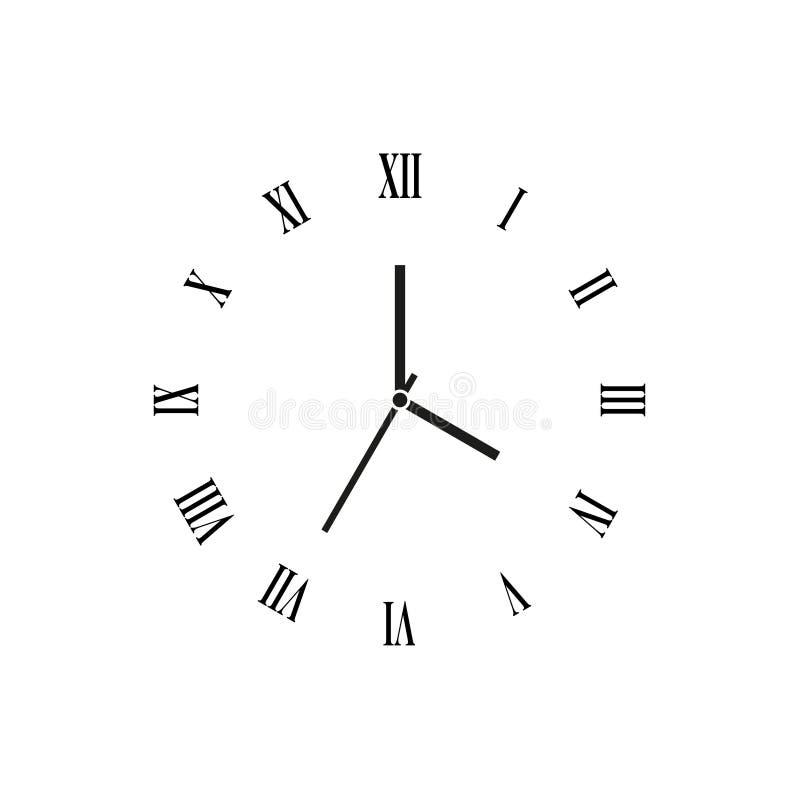 Vector del reloj fotografía de archivo libre de regalías