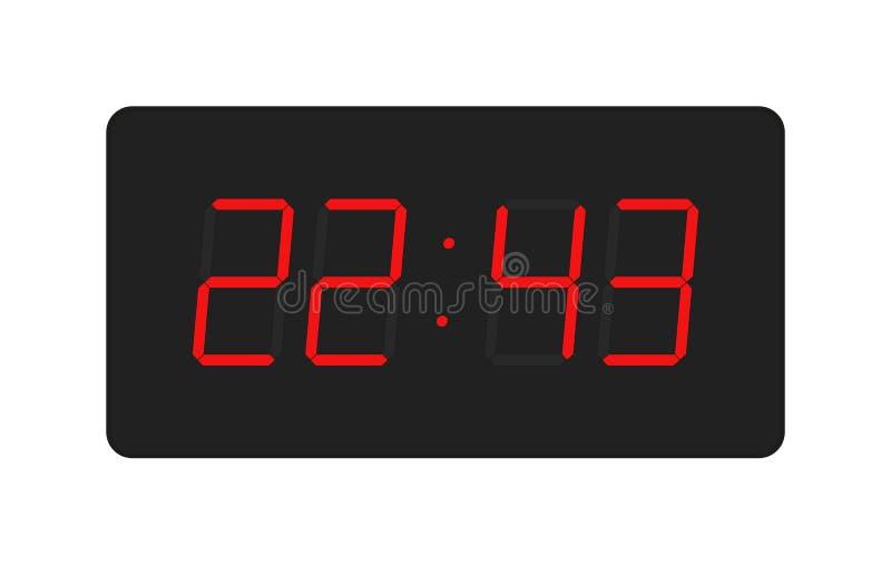 Vector del reloj del electrón fotos de archivo libres de regalías