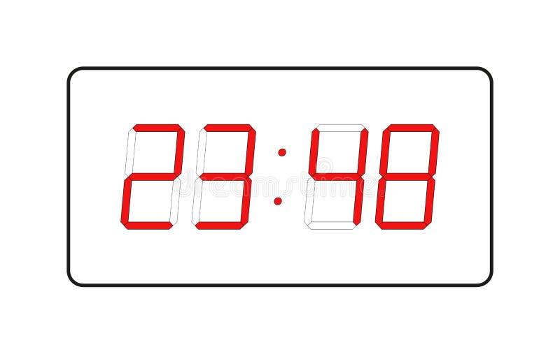 Vector del reloj del electrón foto de archivo