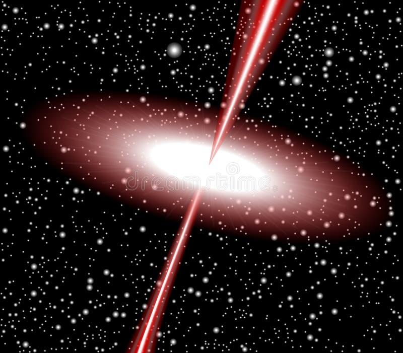 Vector del rojo del cuasar ilustración del vector