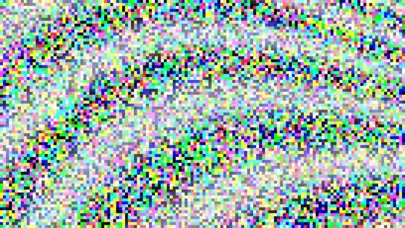 Vector del ruido del pixel Pantalla de la textura TV de la interferencia de VHS Fondo de los pixeles del color Ninguna señal ilustración del vector