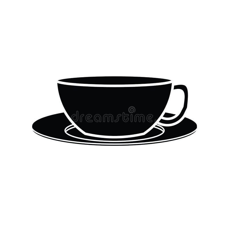 Vector del símbolo de la taza de café stock de ilustración