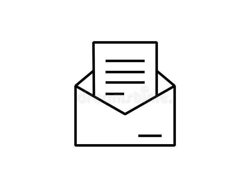 Vector del símbolo de letra del correo electrónico ilustración del vector