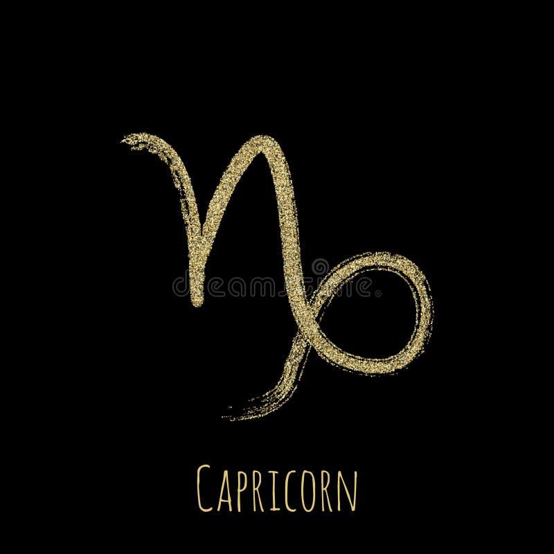Vector del símbolo del zodiaco del Capricornio, muestra del horóscopo ilustración del vector