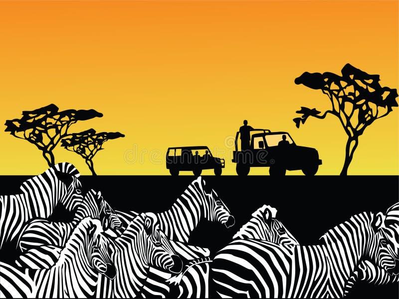 Vector del safari de África stock de ilustración