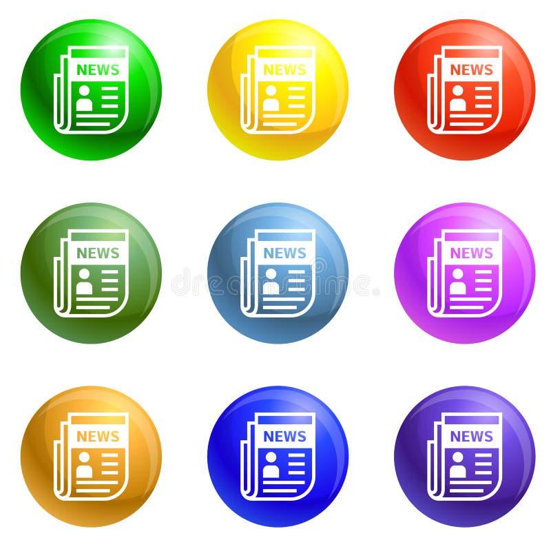 Vector del sistema de los iconos de la elección del periódico libre illustration