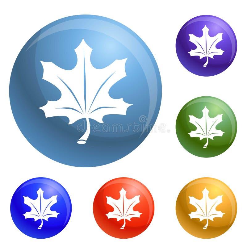 Vector del sistema de los iconos de la hoja del otoño ilustración del vector