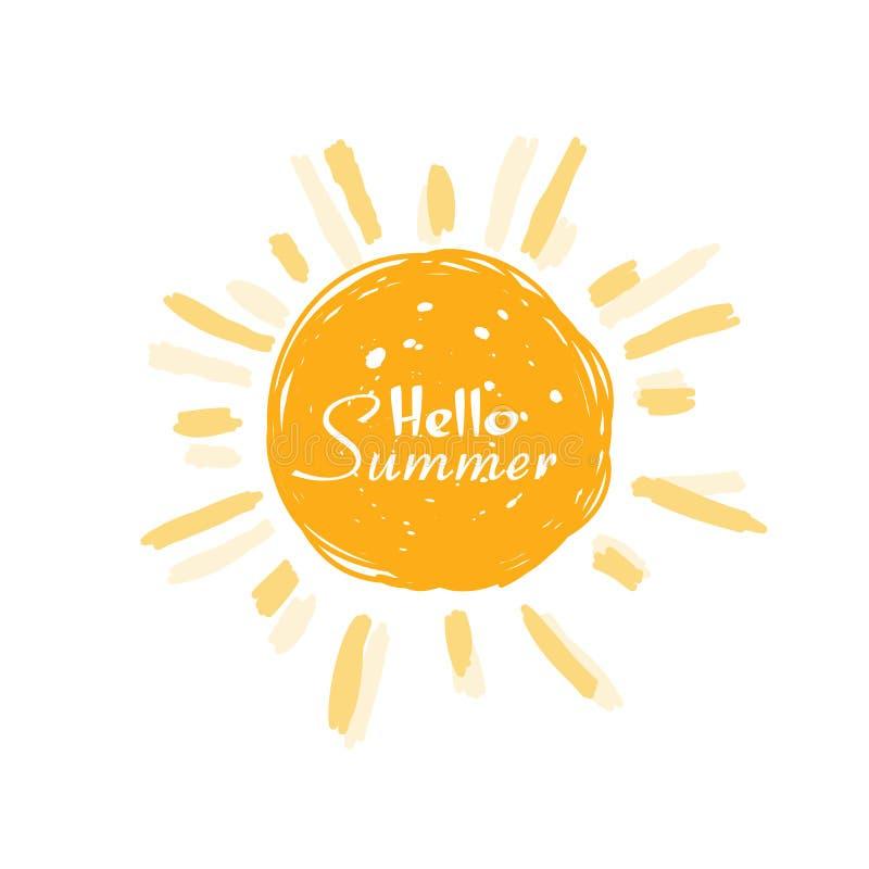 Vector del sol del verano imagen de archivo libre de regalías