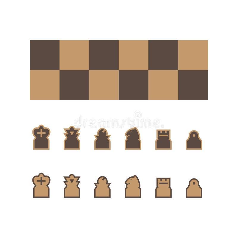 Vector del tablero de ajedrez stock de ilustración