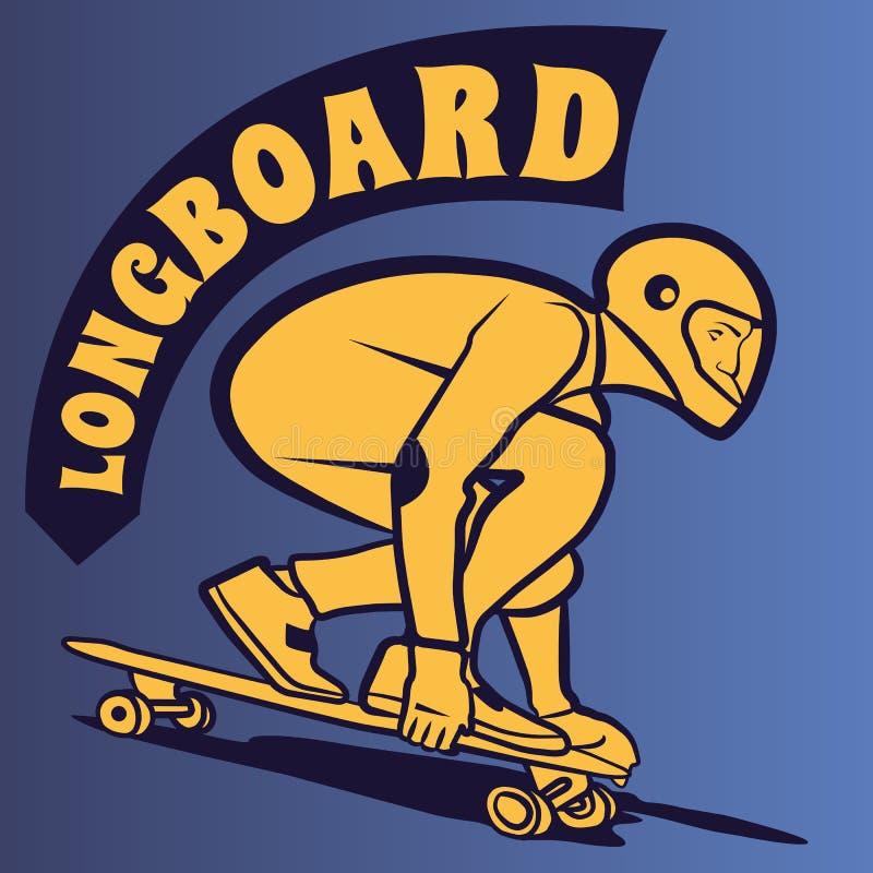 Vector del tema de Longboard foto de archivo