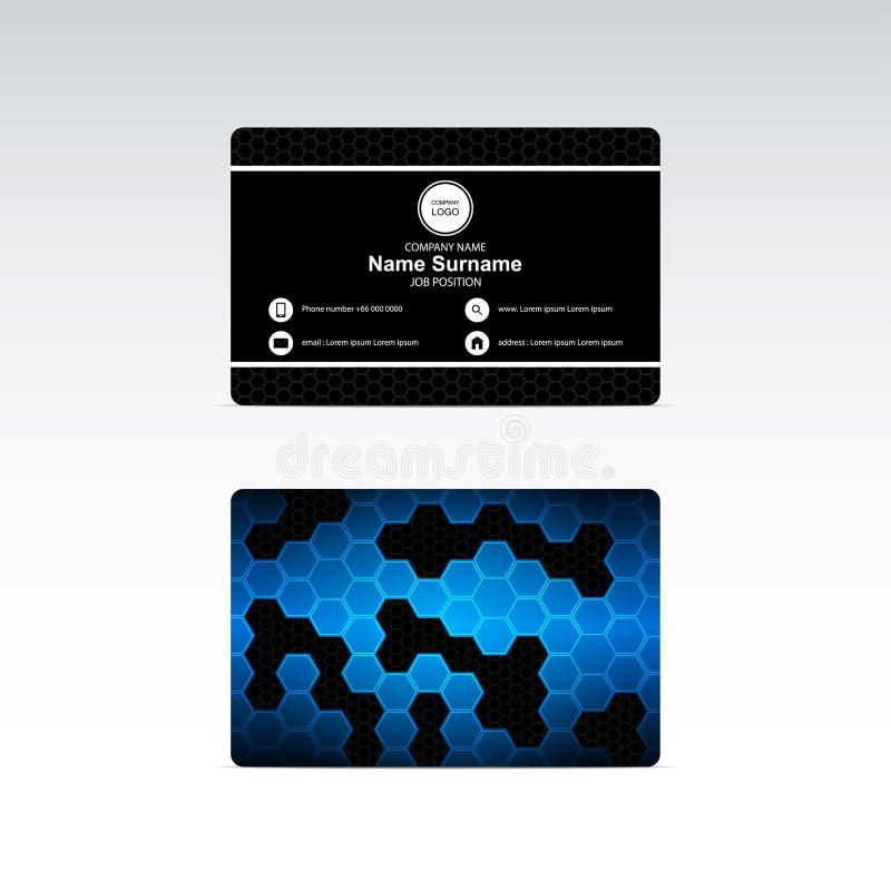 Vector del tema de los hexágonos de la tarjeta de visita ilustración del vector
