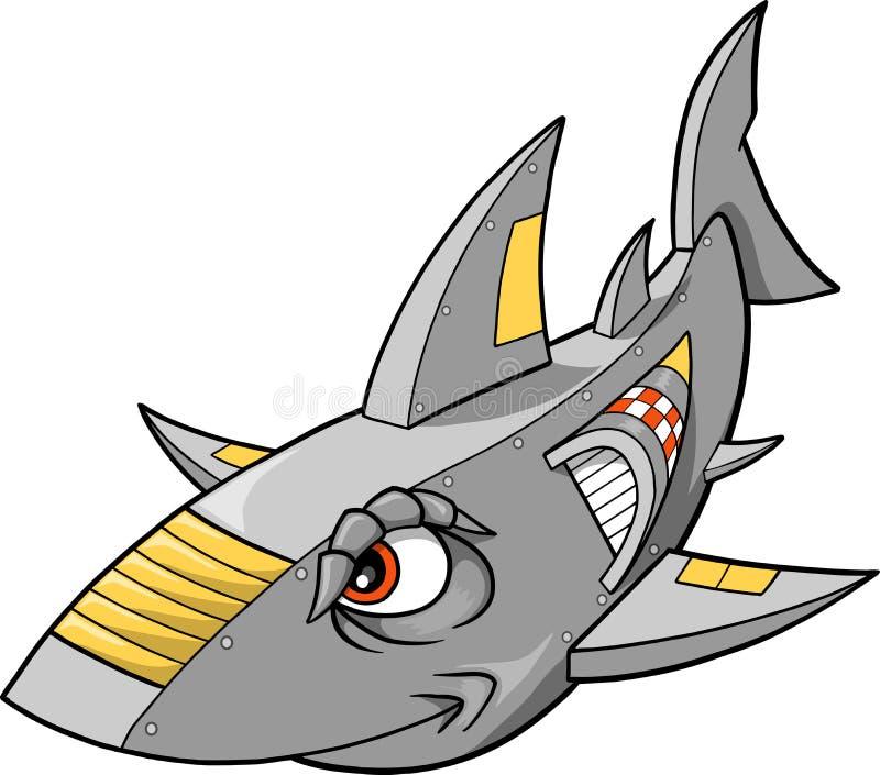 Vector del tiburón de la robusteza ilustración del vector