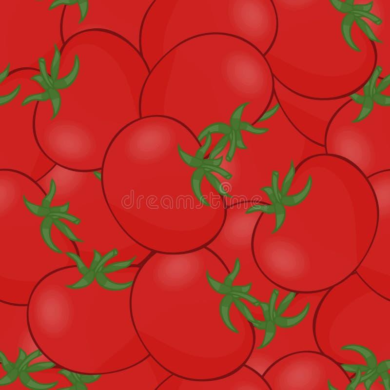 Vector del tomate Muchos tomates rojos Tomates inconsútiles del fondo del modelo libre illustration