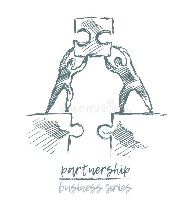 Vector del trabajo en equipo de la sociedad del concepto del negocio libre illustration