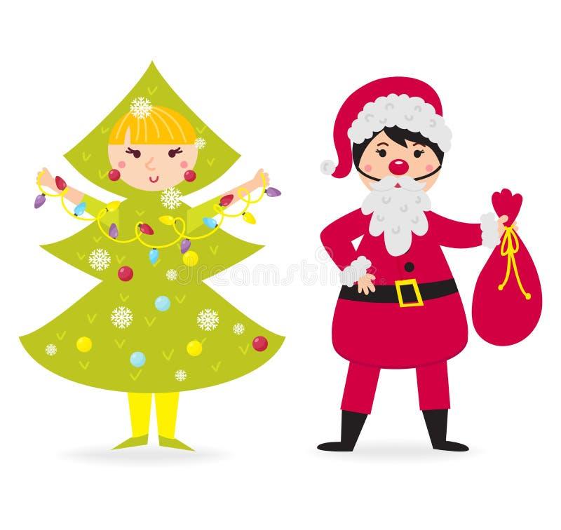Vector del traje de la Navidad del niño que lleva lindo libre illustration