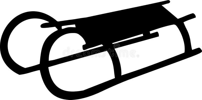 Vector del trineo del trineo largo libre illustration