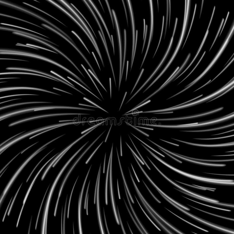 Vector del vórtice del espacio Fondo abstracto con la deformación de la estrella, la explosión de las estrellas o Hyperspace libre illustration