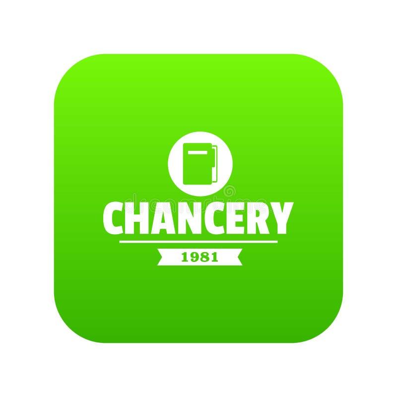 Vector del verde del icono de la cancillería stock de ilustración