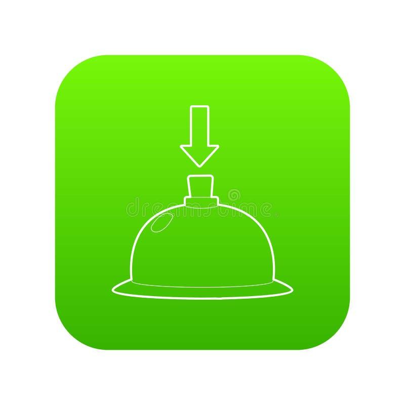 Vector del verde del icono de la llamada de la tabla ilustración del vector