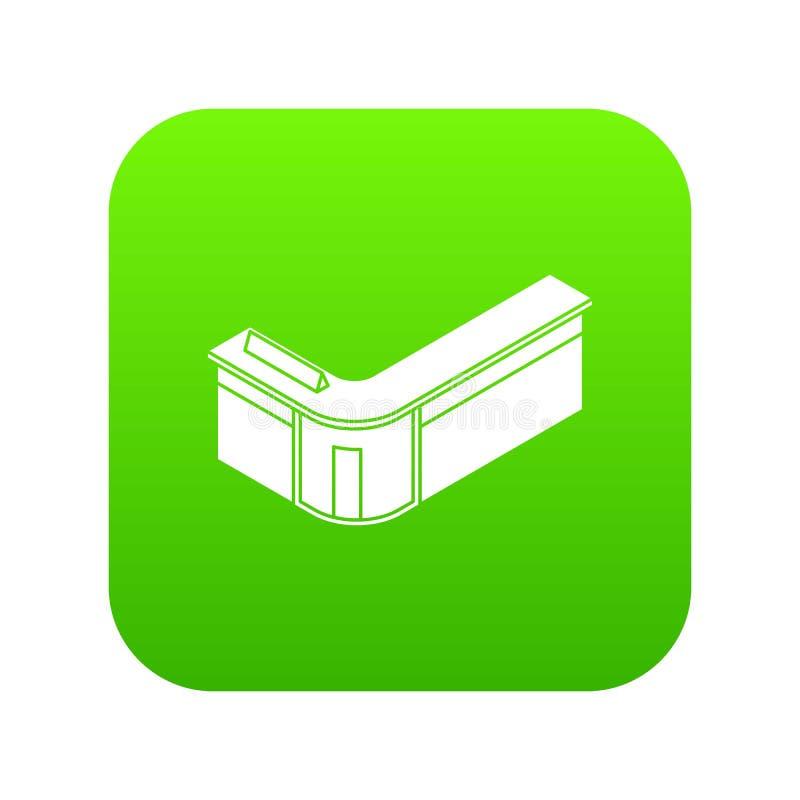 Vector del verde del icono de la tabla de la recepción stock de ilustración