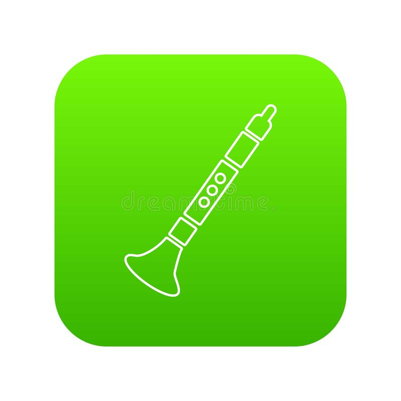 Vector del verde del icono de la trompeta stock de ilustración