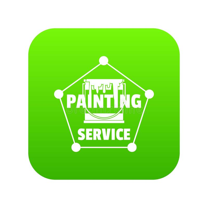 Vector del verde del icono del servicio de la pintura ilustración del vector