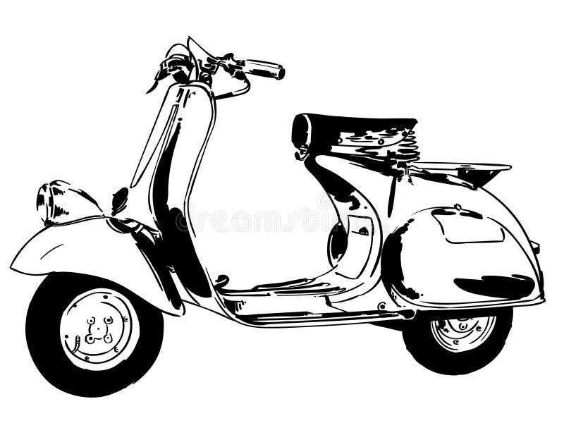 Vector del Vespa, EPS, logotipo, icono, ejemplo de la silueta por los crafteroks para diversas aplicaciones Visite mi p?gina web  stock de ilustración
