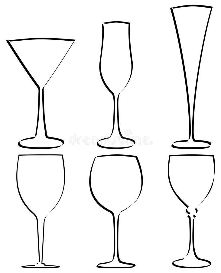 Vector del vidrio del vástago libre illustration