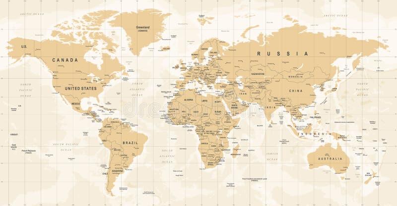 Vector del vintage del mapa del mundo ejemplo detallado del worldmap download vector del vintage del mapa del mundo ejemplo detallado del worldmap stock de ilustracin gumiabroncs Gallery