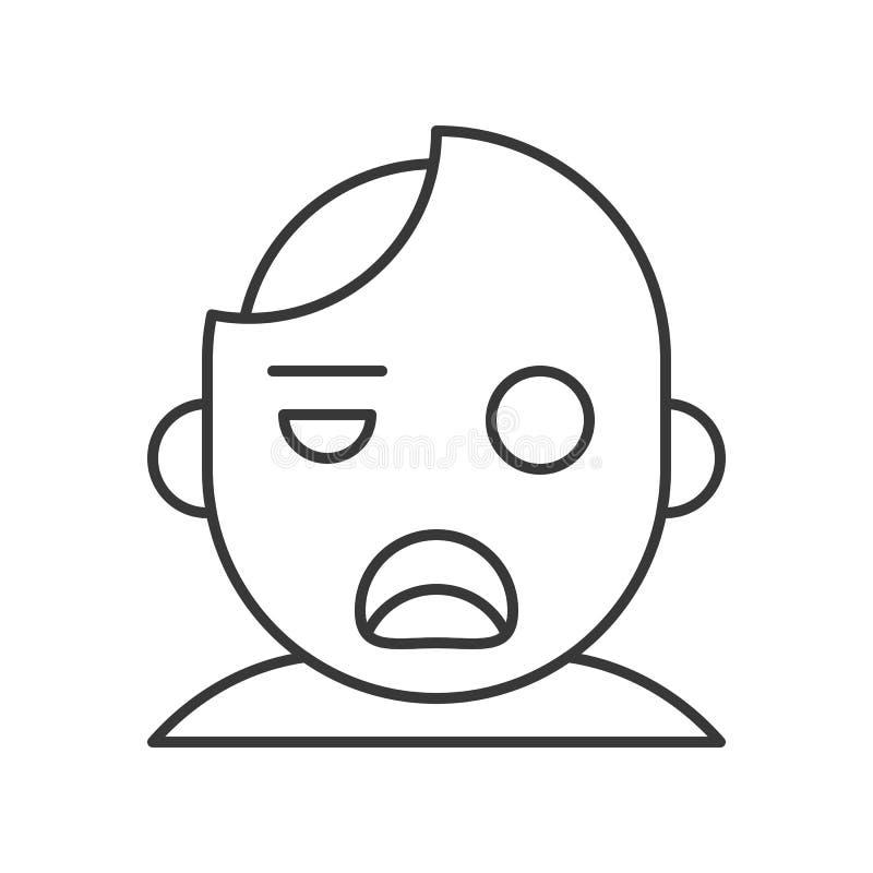 Vector del zombi, movimiento editable del icono del carácter de Halloween stock de ilustración