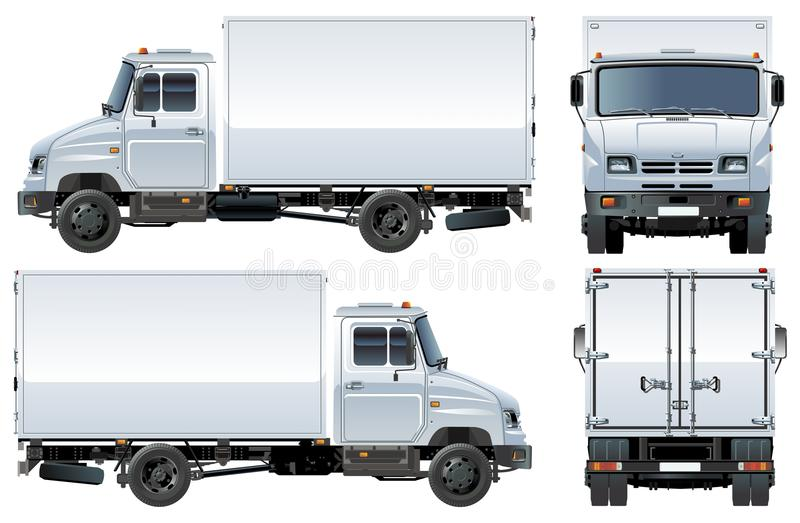 Vector delivery / cargo truck stock images