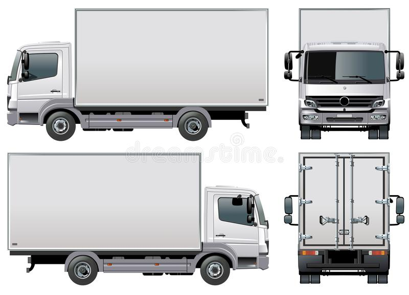 Vector delivery / cargo truck royalty free illustration