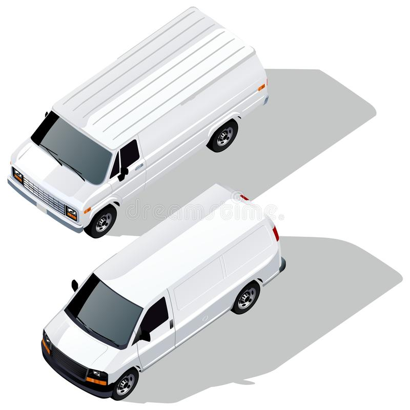 Download Vector delivery vans set stock vector. Image of delivering - 18167121