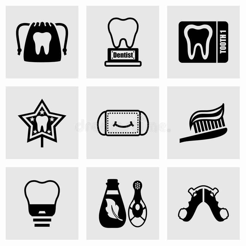 Vector Dental icon set royalty free illustration