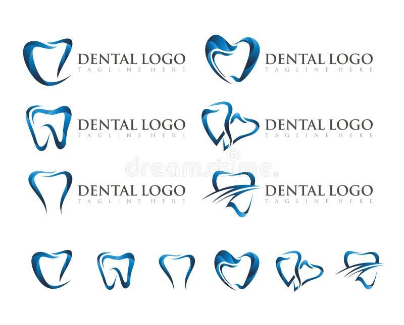VECTOR : DENTAL LOGO DESIGN stock image