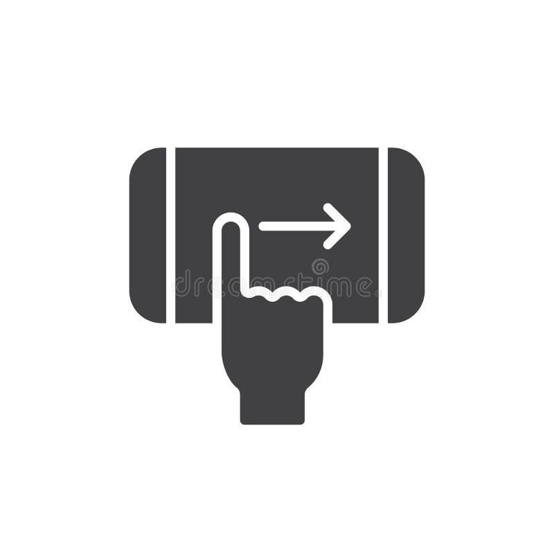 Vector derecho del icono del gesto del golpe fuerte del finger ilustración del vector