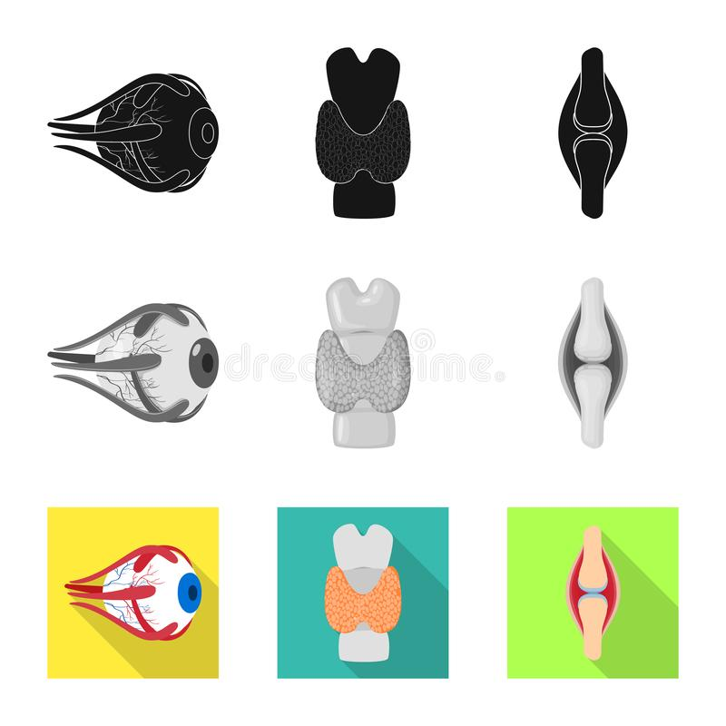 Vector design of biology and scientific logo. Set of biology and laboratory stock vector illustration. Vector illustration of biology and scientific icon stock illustration