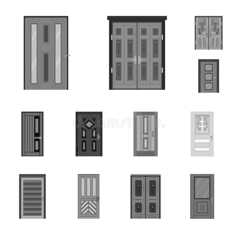 Isolated object of building and office logo. Collection of building and modern vector icon for stock. Vector design of building and office icon. Set of building vector illustration