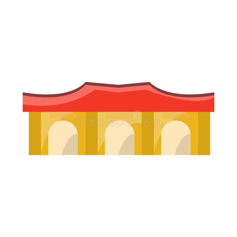 Vector design of building and vietnam logo. Collection of building and architecture vector icon for stock. Vector illustration of building and vietnam icon. Set vector illustration