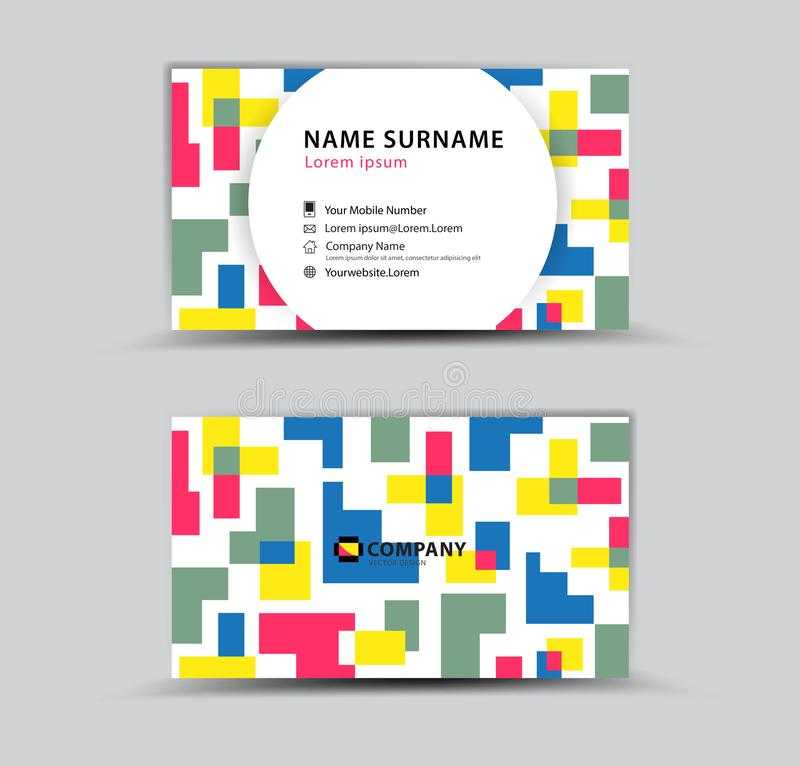Business Card template, Creative idea modern concept vector illustration