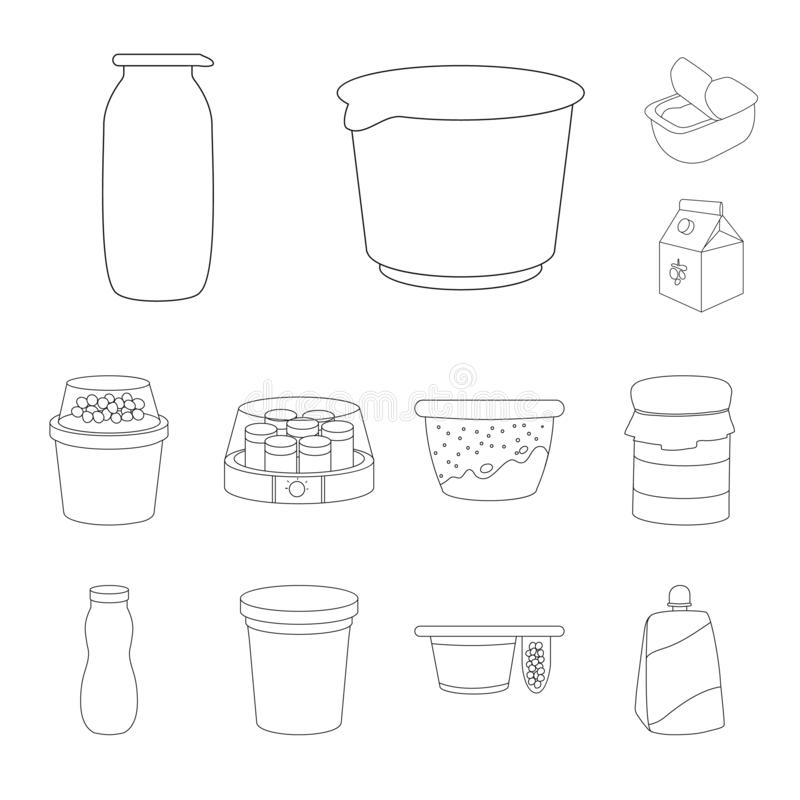 Isolated object of calcium and food logo. Collection of calcium and product vector icon for stock. vector illustration