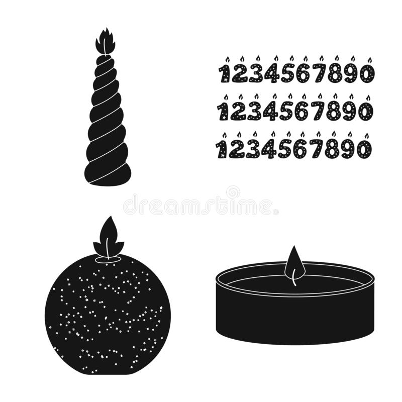 Vector design of candlelight and decoration icon. Set of candlelight and wax vector icon for stock. Vector illustration of candlelight and decoration symbol stock illustration