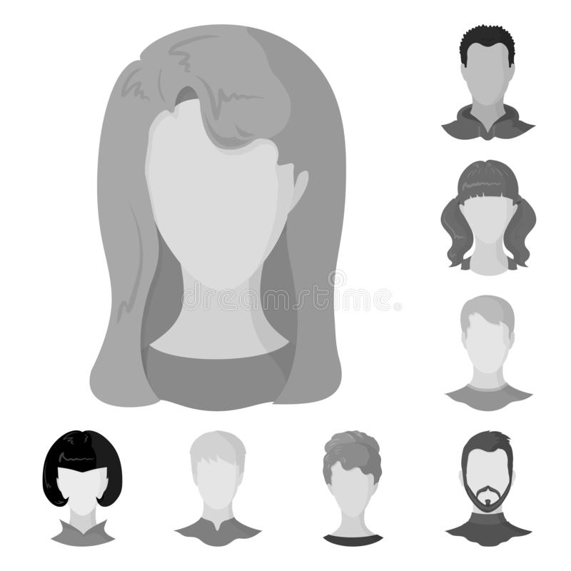 Vector design of character and profile sign. Set of character and dummy stock symbol for web. Vector illustration of character and profile logo. Collection of vector illustration